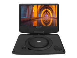 "Koramzi PDVD-900 Portable 9"" DVD Player with Rechargeable Battery / USB / AV Out / Headphone Jack / Remote Control (Black) - New"