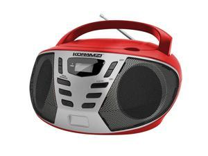 Portable CD Boombox with AM/FM Radio, Top Loading CD Player, Telescopic Antenna, LCD Display for Indoor & Outdoor, Offices, Home, Restaurants, Picnics, School , Camping KORAMZI CD55-BKS
