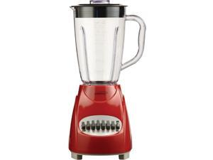 Brentwood Appliances JB-220R 50-Ounce 12-Speed + Pulse Electric Blender with Plastic Jar (Red)