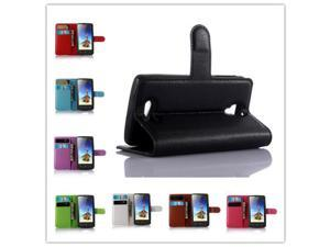 lenovo A1000 case Business luxury Wallet design Litchi pattern Flip stand Leather