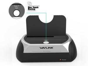 Wavlink USB Hard Drive Docking Station SATA I/II/III External Hard Docking Station For 2.5/3.5 inch HDD/SSD  , HDD/SSD External Storage Enclosures Adapter Tool Free/One Touch Support UASP & up to 8TB