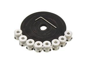Aluminium 20 Teeth GT2 Pulley 5M 2GT Timing Belt For 3D Printer RepRap Prusa