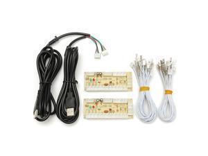 Arcade Encoder PC To 2pin Joystick + Happ Button 4.8mm Wires Zero Delay USB