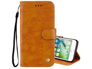 For iPhone 8 Plus & 7 Plus Business Style Oil Wax Texture Horizontal Flip Leather Case