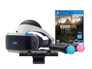 Sony PlayStation VR Resident Evil 7: Biohazard Starter Bundle (4 items): VR Headset, Move Controller, PlayStation Camera Motion Sensor, Resident Evil 7: Biohazard Game Disc