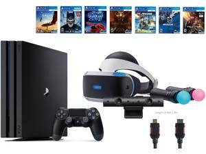 PlayStation VR Start Bundle 10 Items:VR Start Bundle PS4 Pro 1TB,7 VR Game Disc Rush of Blood,Valkyrie,Battlezone,Batman:Arkham VR,DriveClub,Battlezone Battlezone