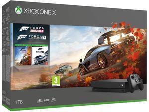Xbox One X 4K HDR Enhanced Forza Horizon 4 Bonus Bundle: Forza Horizon 4, Forza Motorsport 7, Xbox One X 1TB Console - Black