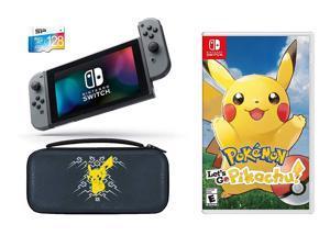 5c1f98aab85 Nintendo Switch Pokemon Let's GO Pikachu Starter Bundle: Let's Go Pikachu,  Deluxe Travel Case