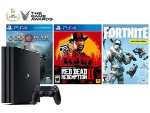 PlayStation Game of The Year Collector's Bundle: God of War, Red Dead Redemption 2, Fortnite 1000V-Bucks with Frostbite Skin Set and PlayStation 4 4K HDR 1TB Console