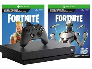 Microsoft Xbox One X Fortnite True 4K Epic Bundle: 2,000 V-Bucks, Legendary Rare Eon Cosmetic Set and Xbox One X 1TB Console 4K HDR with 4K Ultra HD Blu-ray