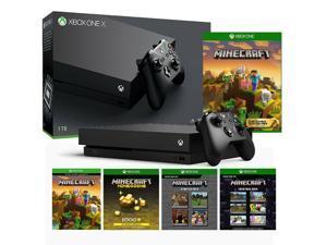Microsoft Xbox One X 1TB Minecraft Starter Pack & Creators Pack Bundle