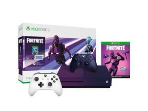 Microsoft - Xbox One S 1TB Fortnite Gradient Purple Special Edition Console Bundle with Extra White Controller