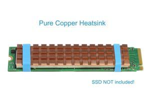RIITOP Pure Copper M.2 NGFF NVMe Heatsink with Thermal Pad for PCIE NVME M.2 SSD or SATA M.2 SSD as Samsung SM951 SM961 950PRO XP9410
