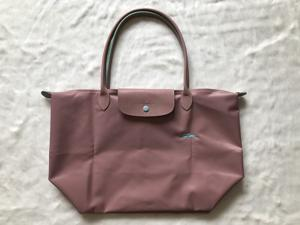 db898d0ae6f1 Longchamp Le Pliage Club Collection Horse Embroidery Large Tote Pink