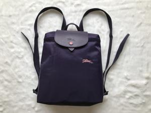 4a98797f246b Longchamp Le Pliage Club Collection Horse Embroidery Backpack Bag Bilberry