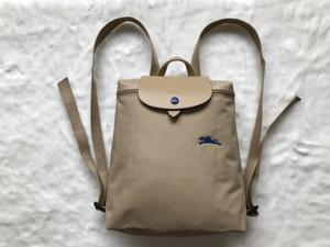 546e960edb8f Longchamp Le Pliage Club Collection Horse Embroidery Backpack Bag Beige