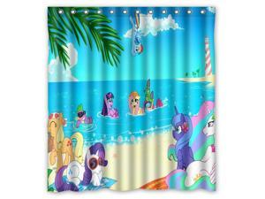 Eco Friendly Waterproof Shower Curtain My Little Pony Bathroom Polyester