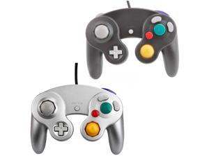 Black & Silver Lot 2  Wired Controller Game Pad for Ninetndo Gamecube GC WII