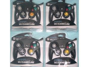 Lot of 4  Controllers for Nintendo GameCube or Wii -- BLACK