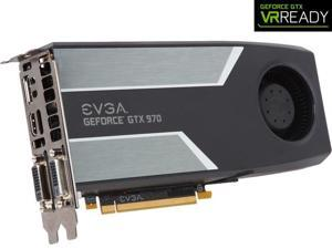 EVGA GeForce GTX 970 4GB SC GAMING, Silent Cooling Video Graphics Card 04G-P4-1972-KR