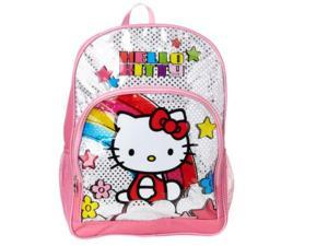 9ee63a3030 Backpack - Hello Kitty - Pink Underglass Shiny Foil Large School Bag New  826175
