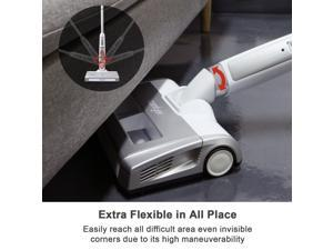 Comfyer Cordless Vacuum Cleaner, Detachable Battery Up to 65 Minutes and Side Cleaning Technique, Bagless Upright Vacuum with 1.65L Large Dust Bin and HEPA Filter for Pet Hair Hard Floor