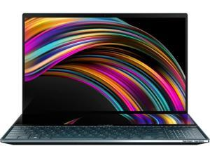"ASUS ZenBook Pro Duo UX581 15.6"" 4K UHD NanoEdge Bezel Touch, Intel Core i7-9750H, 16 GB RAM, 2 TB PCIe SSD, GeForce RTX 2060, Innovative ScreenPad Plus, Windows 10 Pro - UX581GV-XB74T, Celestial Blue"