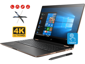 "HP Spectre x360 15t Convertible 2-in-1 Laptop (Intel 8th Gen i7-8705G 3.1 GHz, 32GB RAM, 256GB PCIe SSD, 15.6"" UHD 4K Touch 3840x2160, Radeon RX Vega, Fingerprint, TPM, Thunderbolt, HP Pen, Win10 Pro)"