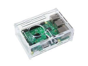 Acrylic Transparent  Enclosure Box Clear Case Protective for Raspberry Pi 3 /2 B+ Model