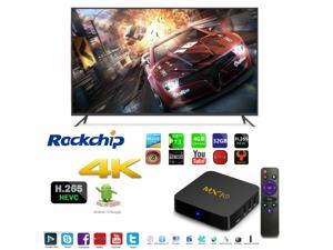 MX10 OTT IPTV Internet Smart TV Box 4K Ultra HD Android 7.1 Quad Core 1.5GHz RAM:4GB/ROM:32GB Network Streamer Media Player