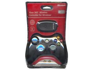 Official Xbox 360 Wireless Controller for Windows - Black (Includes Official Xbox 360 Wireless Gaming Receiver for PC)
