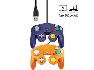 USB Wired Ngc Controller Gamepad GameCube For Windows PC MAC USB Purple And Orange