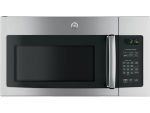 "GE JVM3162RJSS 30"" Over-the-Range Microwave with 1.6 cu. ft. Capacity  300 CFM with 2 Speeds  10 Power Levels  Auto and Time Defrost and Turntable On/Off: Stainless Steel"