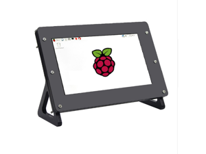 Black Acrylic Case Shell Housing for 7 Inch LCD HDMI Touch Screen 1920 x 1080 LCD Display for Raspberry Pi 3 Model B
