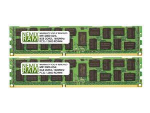 NEMIX RAM 16GB 2x8GB DDR3-1600 PC3-12800 2Rx4 1.35V ECC Registered Server Memory