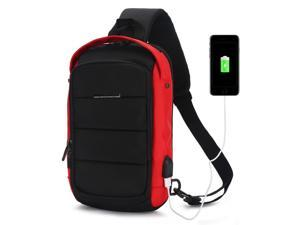c6979e010797 Sling Cross Body Bag with USB Charging Port for Men and Women - Backpack ...