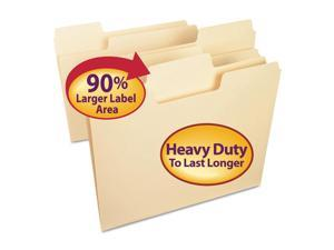 Smead SuperTab Heavyweight Folder Manila 1/3 Cut Letter 50/BX 10401