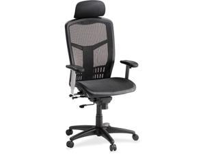"Lorell 60324 High Back Chair, Mesh,  28-1/2"" x 28-1/2"" x 51"" - Black"