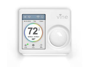 Vine Smart WiFi Thermostat with 7-Day Programming, Touchscreen and Nightlight (TJ-610) - Ivory