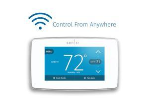 Emerson Sensi Touch Wi-Fi Thermostat with Touchscreen Color Display for Smart Home, White