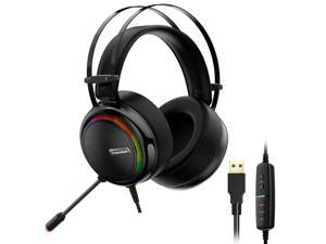Tronsmart Glary Virtual 7.1 Stereo Sound Gaming Headset with Colorful LED Lighting, USB Port for Nintendo Switch/PS4