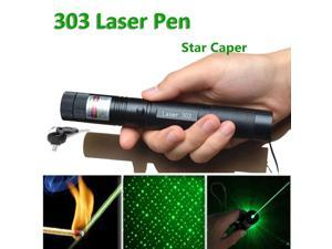 LED 303 Laser Pointers Green Beam Laser Pointer  Star Pattern Filter pen Adjustable Focal Length Safe Key Laser+4200mah 18650 Battery+Charger