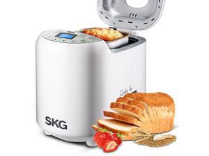 SKG Automatic 2-LB Bread Maker Multi-Functional & User-Friendly (19 Settings, 15 Hours Delay Timer, 1 Hour Keep Warm) - 2 Pounds Bread Machine - Beginner Friendly Programmable Breadmaker