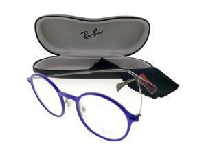 66476bd722cfb Ray Ban RX7116-5679-48 Oval Men s Grey Frame Clear Lens Genuine Eyeglasses  NWT