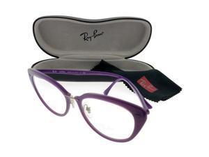 ea0e42e53b7b1 Ray Ban RX7088-5617-54 Light Ray Women s Violet Frame Clear Lens Eyeglasses  NWT