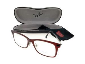 cdfe805fbc1 Ray Ban RX7039-5456-53 Light Ray Unisex Red Frame Clear Len Genuine  Eyeglasses