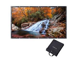 "Instahibit® 100"" 16:9 Portable Front Projection Screen Foldable PVC 4K HD Home"