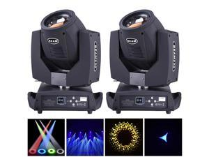230W Beam Moving Head Light DMX512 Disco Gobo Rainbow Effect LED Stage Lamp 2pcs