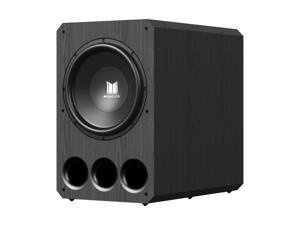 Monoprice Monolith 15 Inch Powered Subwoofer - Black   THX Select Certified, 1000 Watt Amplifier, 15 Inch Driver For Studio & Home Theater