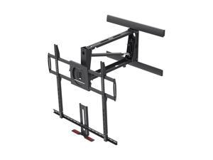 Monoprice Extra Large Above Fireplace Height Adjustable Swivel TV Pull Down Mantel Wall Mount for LCD LED Plasma Screen ...